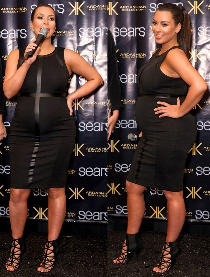 Kim Kardashian makes an in-store appearance at Sears to launch the Kardashian Kollection Spring 2013 clothing line at Willowbrook Mall on May 4, 2013 in Houston, Texas