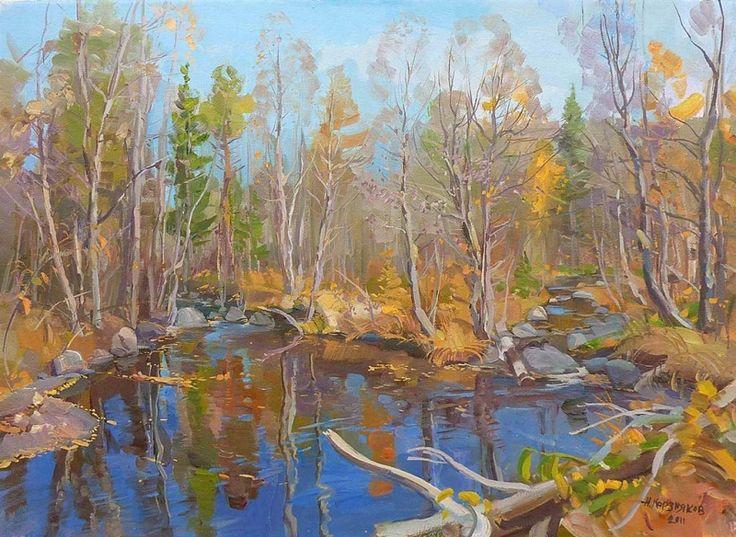 Октябрь на таёжной реке: