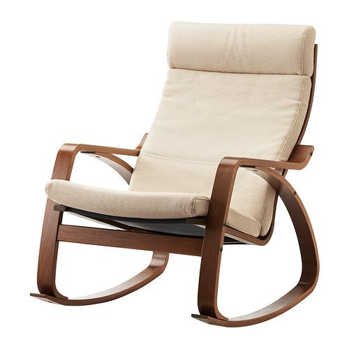 POÄNG Rocking chair IKEA Frame made of layer-glued bent birch; a very ...