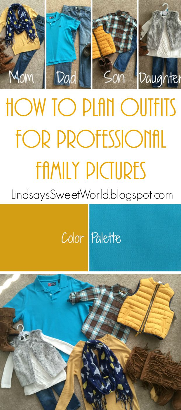 Figuring out what to wear for a family picture session can be intimidating.  Follow these 8 simple steps and it will be a piece of cake!  How to Plan Outfits For Professional Family Pictures