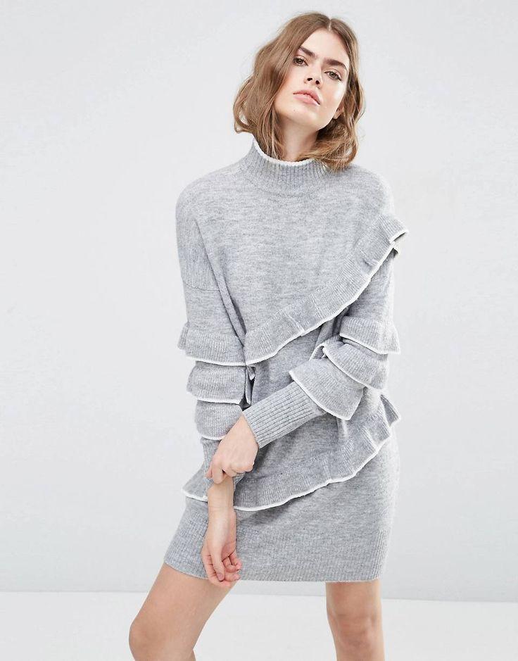 Jumper Dress with Ruffles