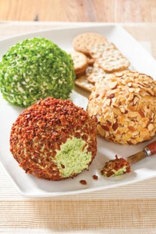 Cheese ball recipes - I tried the original cheese ball recipe and thought it was pretty good. I think the Worcestershire  sauce was too strong, so next time, I will reduce it by half.
