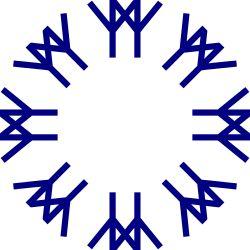 Le motif de l'Expo 67 logo a été dessinée par l'artiste montréalais Julien Hébert. Chaque élément a été basée sur un ancien cryptogramme représentant l'homme debout, les bras tendus. Les paires représentent l'amitié universelle encerclant le monde[1].