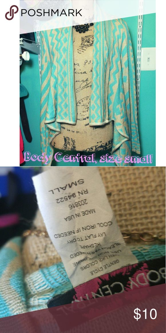 Body Central Cardigan Size small, ADORABLE Aztec Body Central Cardigan! Like new condition!! Body Central Sweaters Cardigans