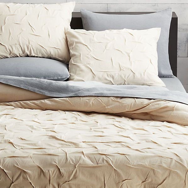 melyssa natural bed linens  | CB2