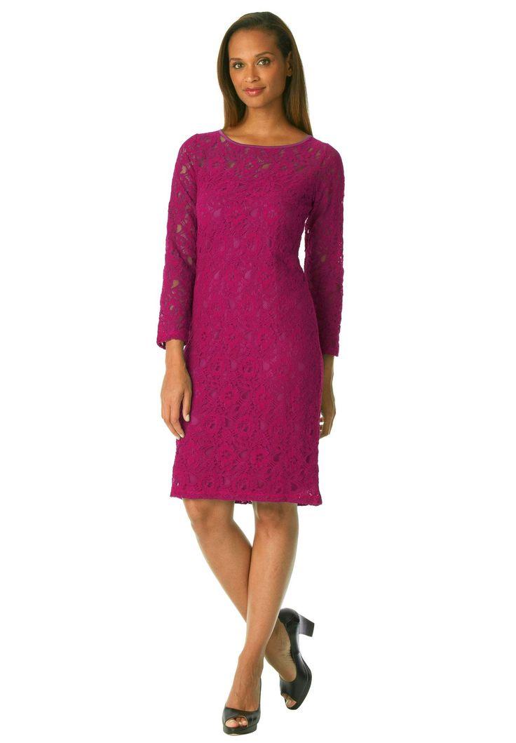Jessica London® Lace Shift Dress | Plus Size Dresses | Jessica London