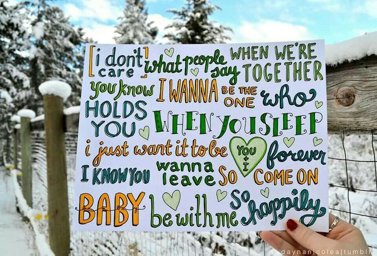 Some awesome draw of the lyrics of happily one direction