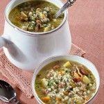 Zuppa d'orzo con fagioli