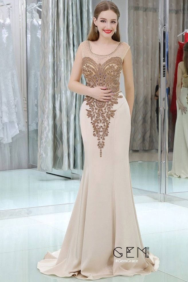 Only $148.99, Prom Dresses Sparkly Beading Mermaid Long Nude Evening Dress With Sweep Train #B066 at #GemGrace. View more special Special Occasion Dresses,Prom Dresses now? GemGrace is a solution for those who want to buy delicate gowns with affordable prices, a solution for those who have unique ideas about their gowns. Find out more>>
