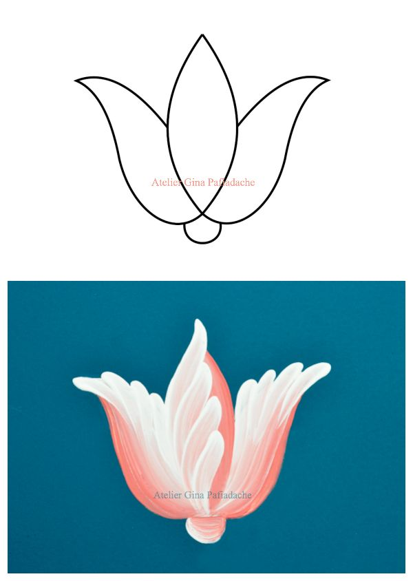 Atelier Gina Pafiadache: Tulipa Aberta em Bauernmalerei