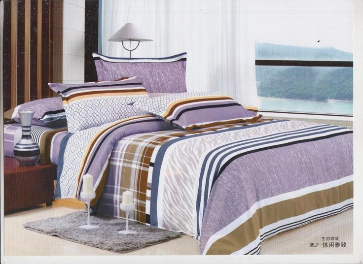 Sani Home Decor Double Bedsheet with 2 Pillow Cover-Purple Color