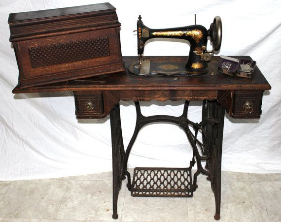 antique sewing machine base