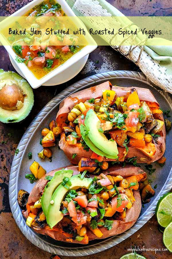 Keep it simple tonight with hearty vegan baked yams stuffed with roasted spiced veggies and topped with delicious salsa. This is a veggie forward recipe with blended flavours, nutritionally packed and super easy to make. For a meatless dinner, these yams are exceptional! Yams are made up of complex carbs and fiber, making them a […]