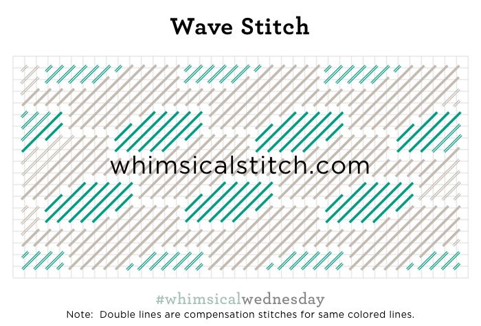 Wave Stitch from April 5, 2017 whimsicalstitch.com/whimsicalwednesdays blog post.