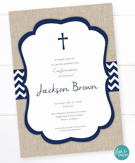 Free Printable Confirmation Cards Elegant First Munion Invitation Holy Munion First Euchar First Communion Invitations Confirmation Cards Communion Invitations