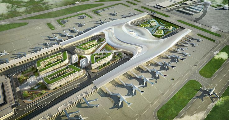 Gallery - UNStudio Proposes User-Centric Design for the Taiwan Taoyuan International Airport - 1