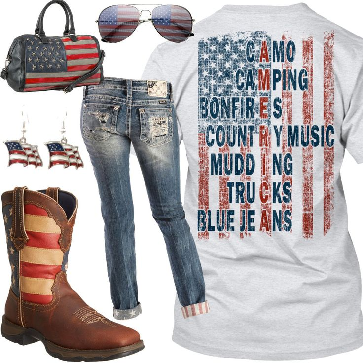 American Flag Outfit - Real Country Ladies