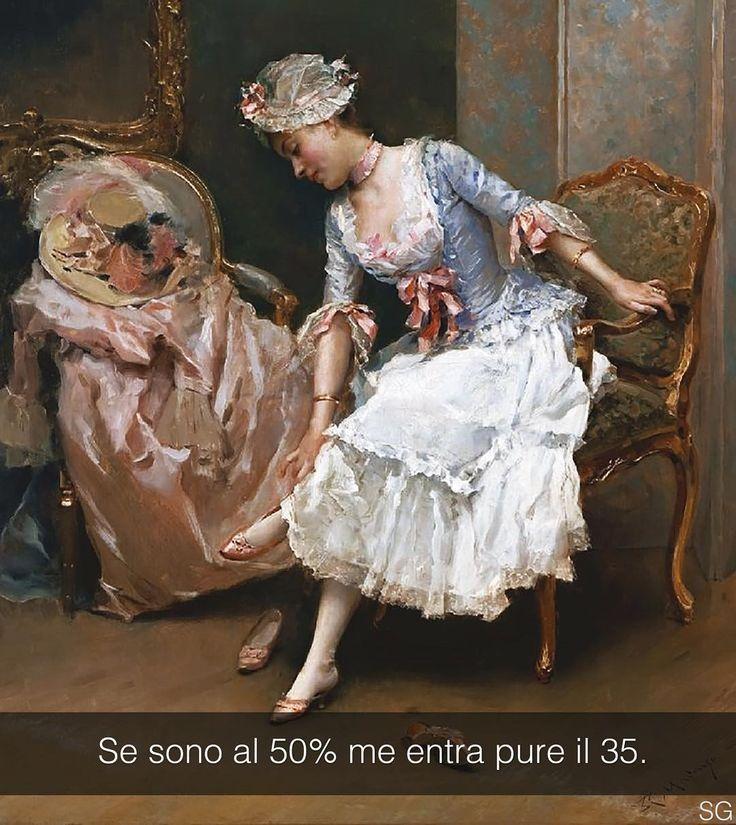 Le scarpe nuove - Raimundo de Madrazo y Garreta (1895) Snapchat: stefanoguerrera #seiquadripotesseroparlare #stefanoguerrera