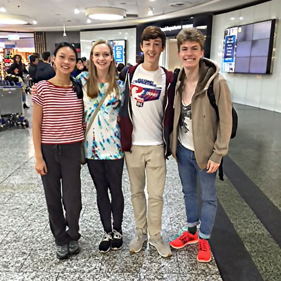 Recently we had four students from Canada's National Ballet School spend three weeks at our school. They had a wonderful time and, although they did not want to leave, Maree Strachan put them safely on a plane. Pictured are from L-R QingLin Liu, Emily Murray, Quinn Roy, Christopher Krofchak. The Exchange Programme is a valuable experience that will enrich the student's dance training and the future of dance in Australia.
