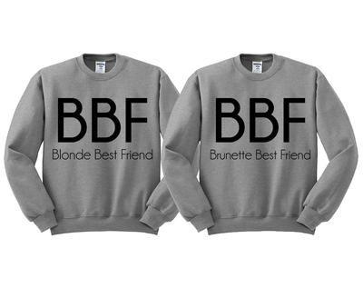 Best Friends BBF Blonde Brunette Duo Sweatshirt Set 3