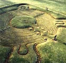 Turf Maze, Town of Saffron Walden, England (c1699)//