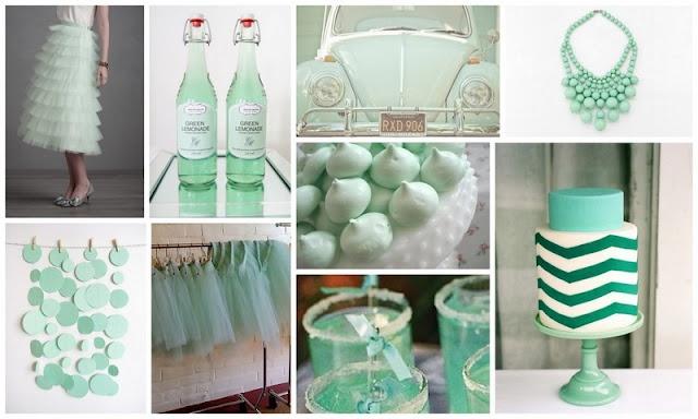 Mint wedding palette