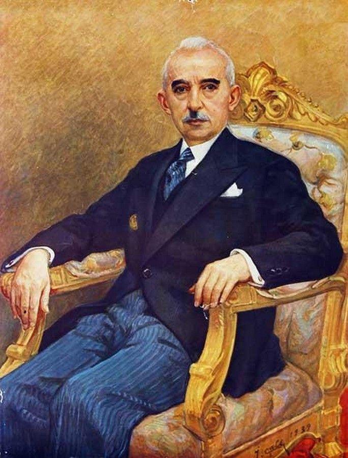 Portrait Of Ismet Inönü By Ibrahim çallı Ibrahim çallı Paintings