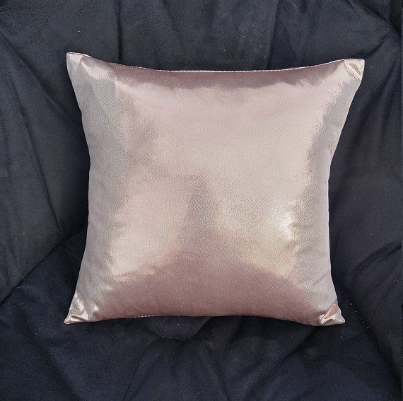 Rose Gold Pillow Cover Metallic Blush Cushion Cover 14 x 14