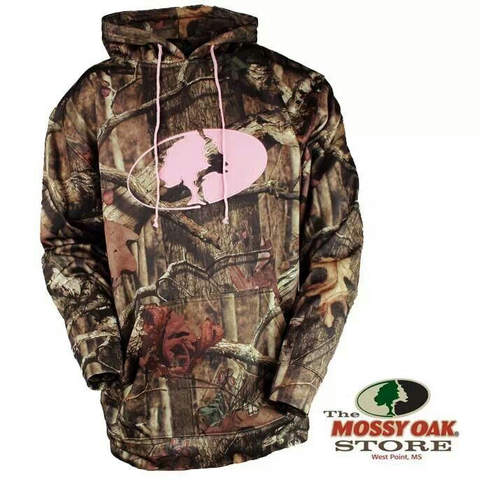 Love this pink and camo mossy oak hoodie
