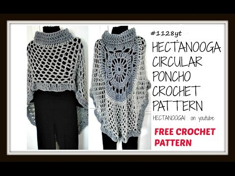diy, CROCHET A CIRCULAR PONCHO, MANDALA CAPE, ASYMMETRICAL SHAWL, pattern  #1128yt - YouTube