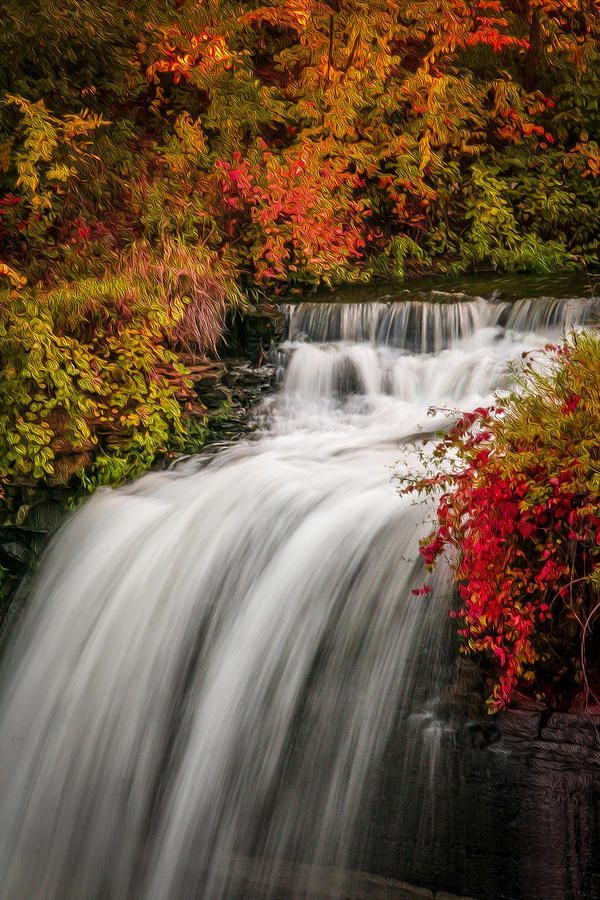 Portofolio Fotografi Pemandangan - Fall At Minnehaha Falls Photograph by Patti Deters  #PHOTOGRAPHICSCENERY