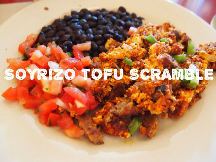 Just in time for Cinco de Mayo: Vegan Soyrizo Tofu Scramble. This one ...