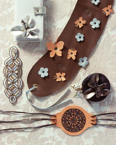 cintura fai da te farfalle e fiori