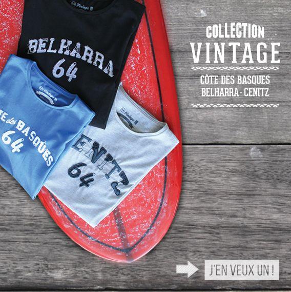 Tee-shirt Spots de Surf  Belharra - Cote des Basques - Cenitz - La marque 64 -http://www.64.eu/categorie/homme/surf.html