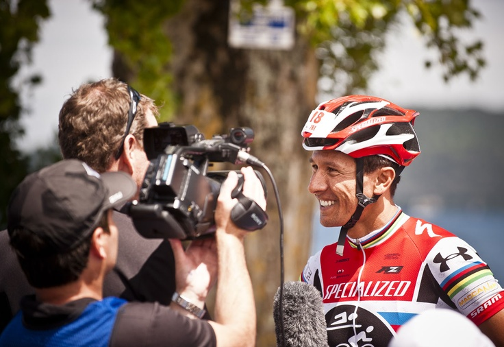 Aussie triathlete Chris McCormack drew his share of media in Kinloch near Taupo