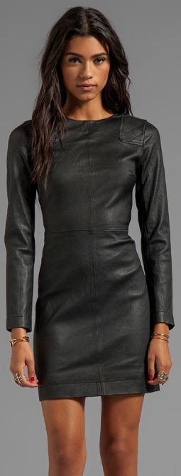 10 Best ideas about Black Leather Dresses on Pinterest - Leather ...