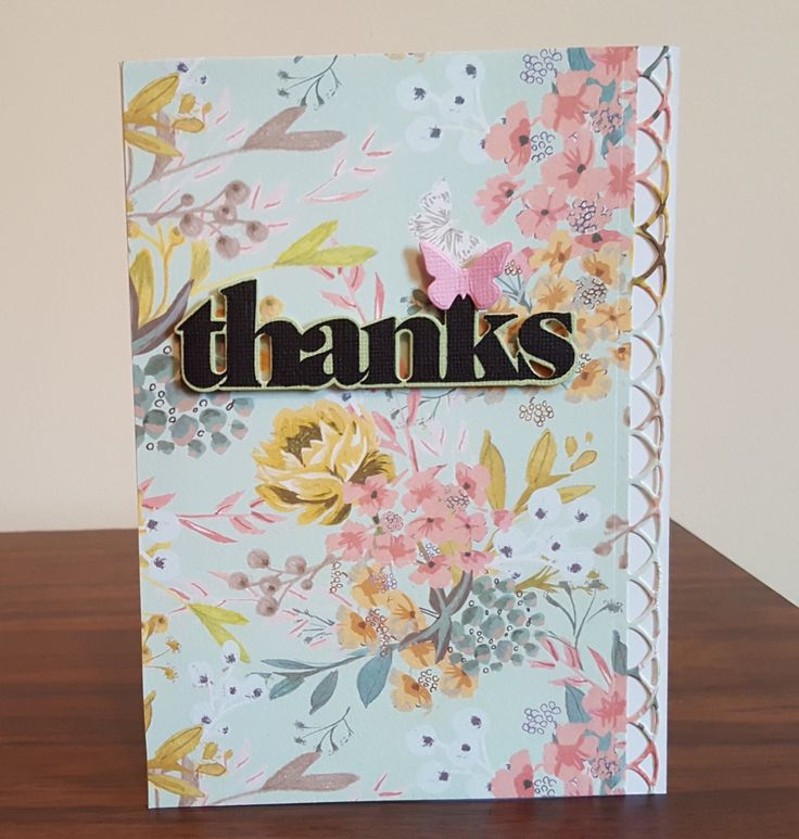 Butterfly Thank You Card by CreativeDuz on Etsy