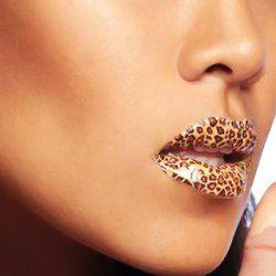 Fashion Temporary Lips Tattoo Classic Leopard Print Lipstick Art Make-up 22#