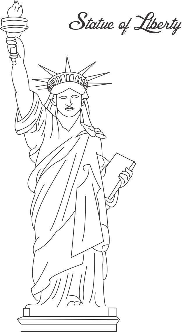 statue of liberty printable coloring page for kids - York Coloring Pages Printable