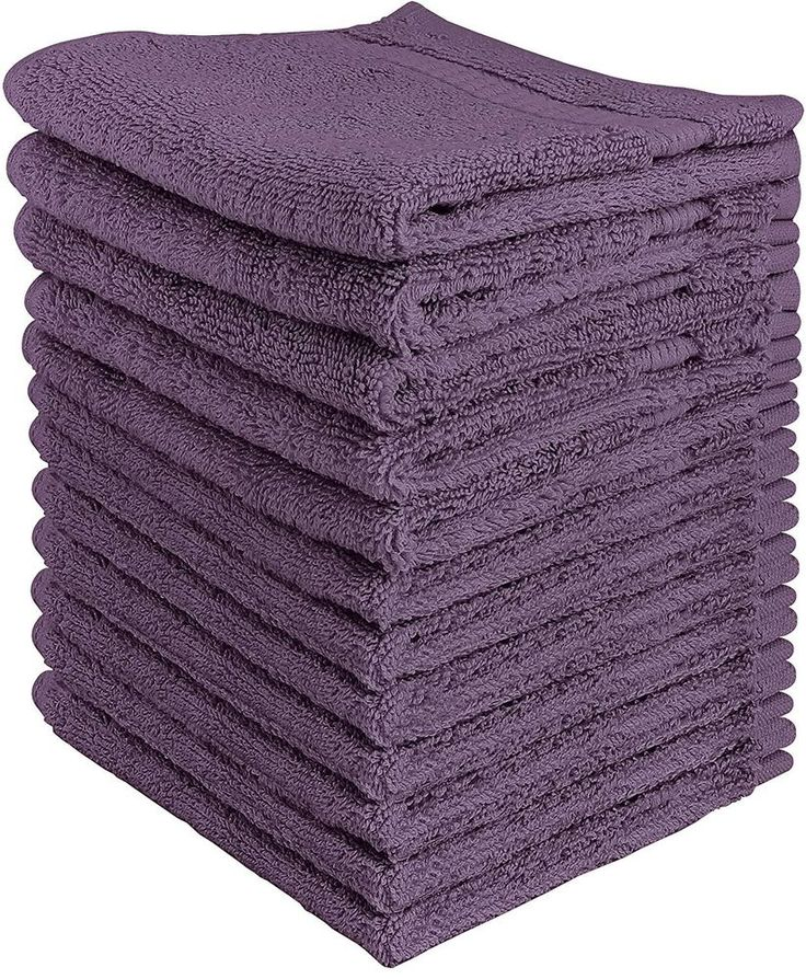 12 Piece Plum Purple Washcloths Cotton Bathroom Hand Towels Free Shipping