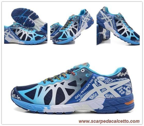 scarpe da calcio Uomo Navy/Bianco/Flame T408N-4901 Asics Gel Noosa Tri 9
