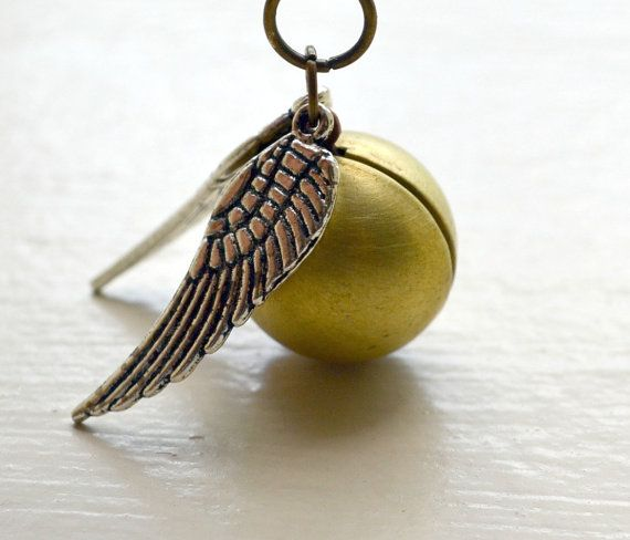 Golden Snitch Necklace with Silver Wings $21.00