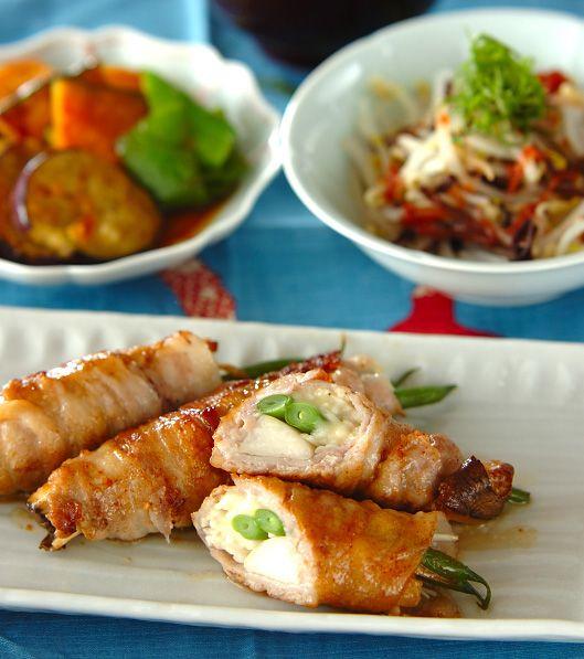 「キノコの豚肉巻き」の献立・レシピ - 【E・レシピ】料理のプロが作る簡単レシピ/2011.06.29公開の献立です。