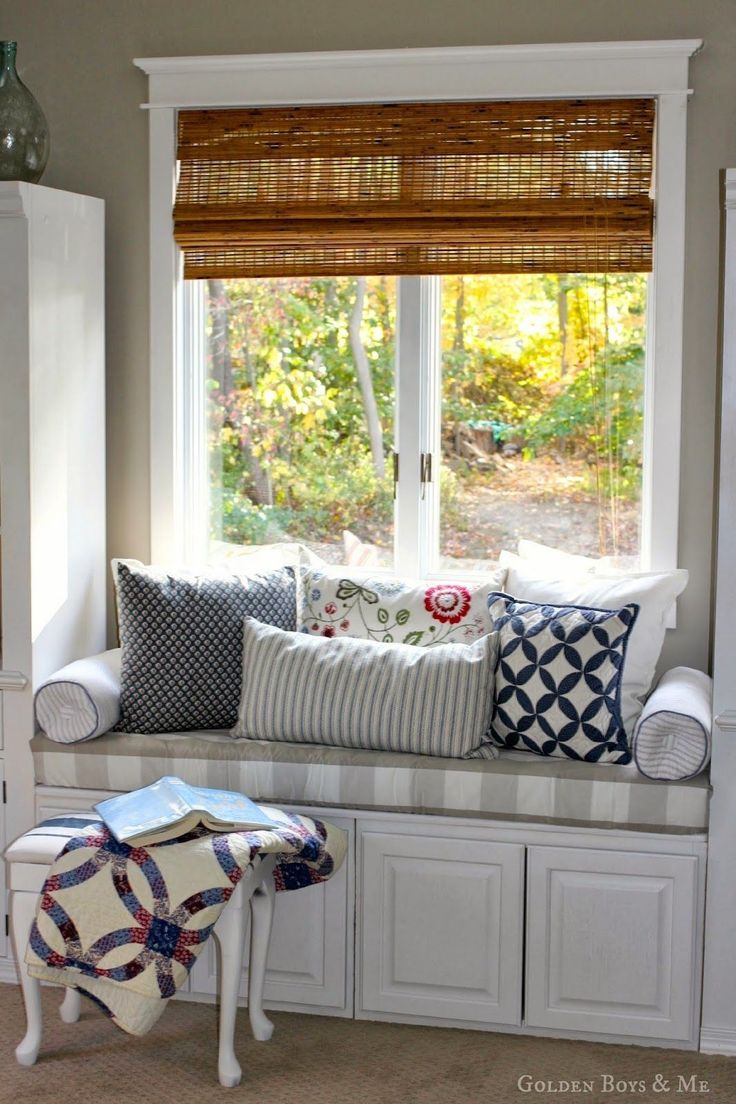 DIY window seat made with off the