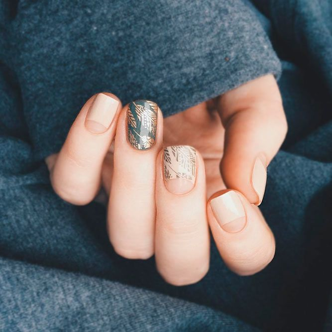 21 Negative Space Nails Designs: Simple Perfection ❤ Negative Space Half Moon Manicure picture 2 ❤ See more: https://naildesignsjournal.com/negative-space-nails-designs/ #naildesignsjournal #nails