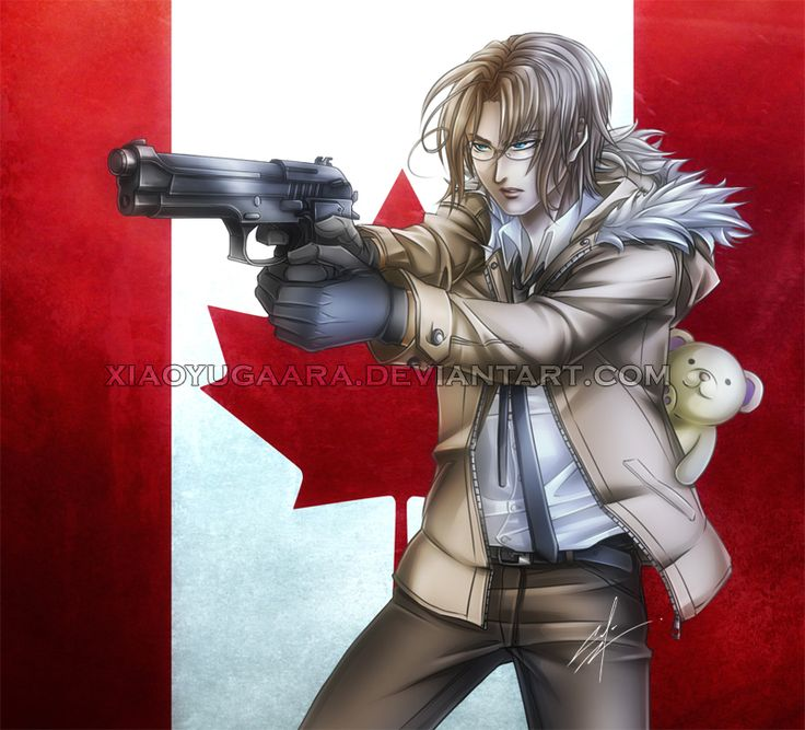Canada by xiaoyugaara.deviantart.com on @deviantART - Canada (Matthew Williams) - Canada can be quite a paradox. The country has a strong reputation for politeness, peacekeeping, and tolerance - but we are not doormats. Anyone who looks into Canada's military history - and the state of its military activities today - will find that there is quite a tough core to our soft appearance. So don't mess with us, guys.