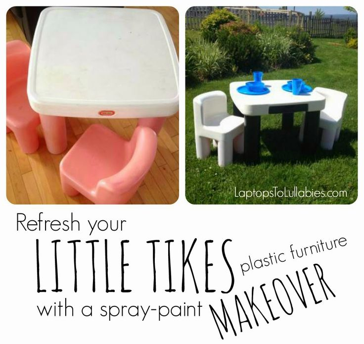 Tutorial: Refresh Your Littl Tikes Plastic Furniture With A Spray Paint  Makeover [By