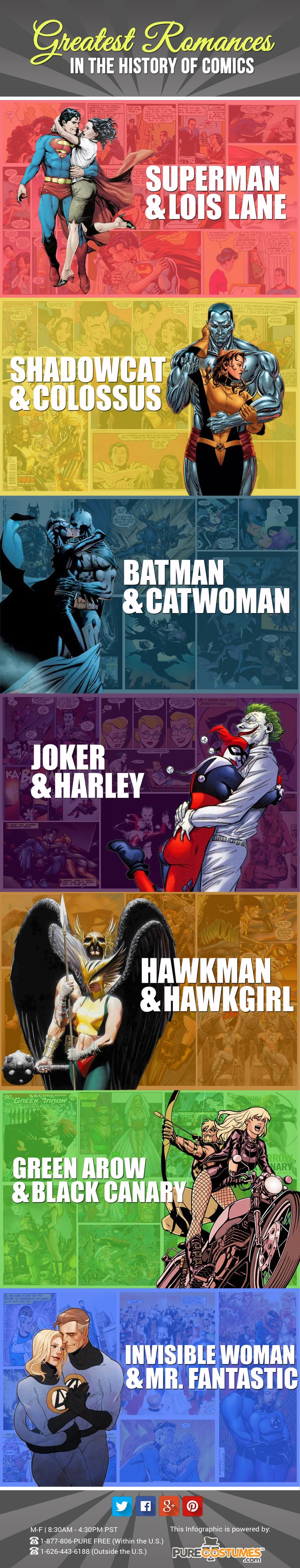 Comic Book Couples Infographic http://geekxgirls.com/article.php?ID=5679