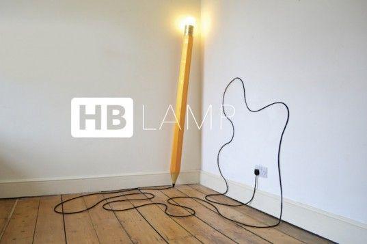 HB Lamp, Tent London, London Design Week, London Design Festival, Pencil Lamp, green interiors, green lighting, handmade lamp, Michael & George, HB pencil lamp, fun design