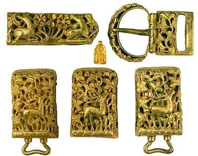 Belt Fitments 13th-early 14th centuries Gold